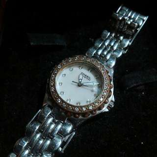 Fossil Women's Watch  with Crystals, Mother Of Pearl Dial