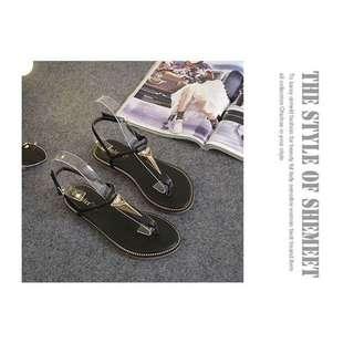 水鑽涼鞋 夾腳 涼鞋 22.5~23.5
