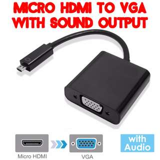 #1212YES TVD032 Micro HDMI to VGA Converter with Sound Support
