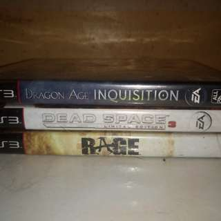Ps3 games:Dead Space 3, Dragon Age Inquisition, Rage