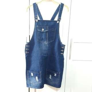 Denim Jumper Skirt for Women (Used only once)
