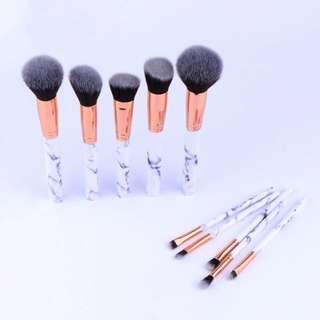 Full size 10Pcs/Set Professional Makeup Brushes Marble Handle