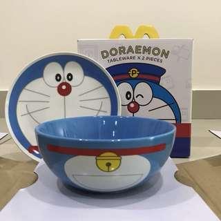 Limited Edition McDonald's Hong Kong Doraemon Tableware Set