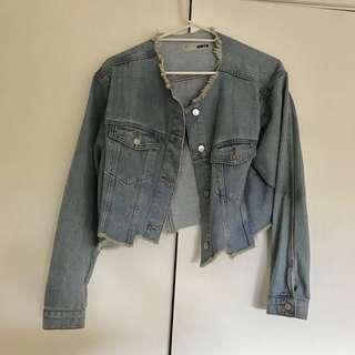 Cropped Denim Jacket size L