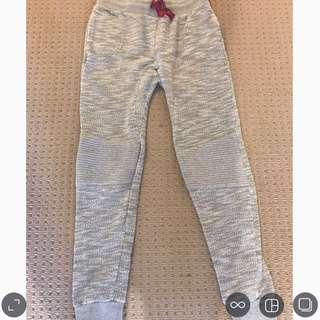 Track pants grey and red jeans size 10