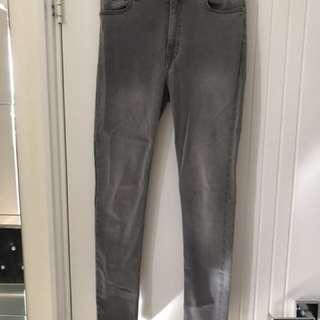 MNG Grey Wash Skinny Jeans