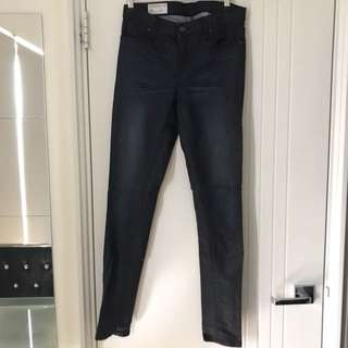 HEDONISM Navy Mid Waist Rise Size 7