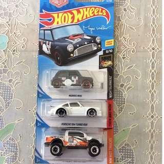 Hotwheels Morris Mini, Porsche 934, Ford F-150