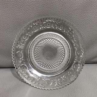 水晶盤 玻璃盤 雕刻 下午茶餐盤 水果盤 Plate