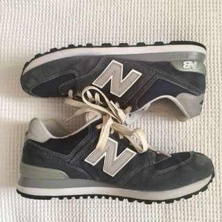 White & Navy Womens New Balance Running Shoes