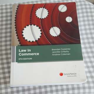 Law in Commerce 5th edition textbook