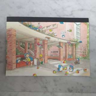 Lee Kow Fong's Watercolour Illustration Lined A5 Notebook