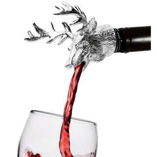 Stainless Steel Wine Aerators Deer Stag Head Wine Pourer Unique Wine Bottle Stoppers Bar Tools