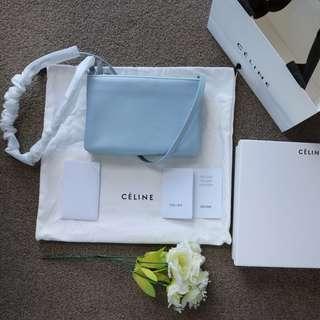 Celine Trio small shoulder bag in lampskin