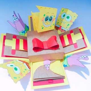 卡通版大禮物盒(海綿寶寶主題)