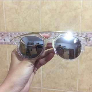 Sunglasses silver frame gold