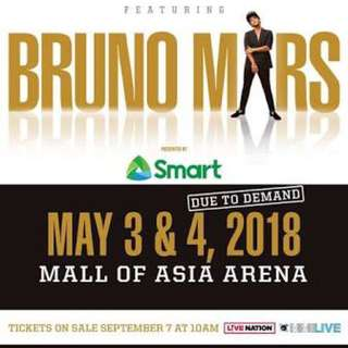 LOOKING FOR 2 BRUNO MARS TICKETS