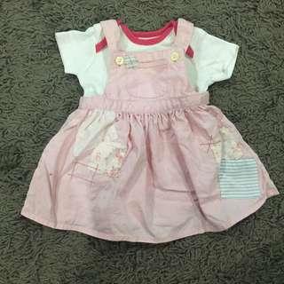 Baby skirt overall
