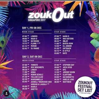 zoukout day 1 tickets