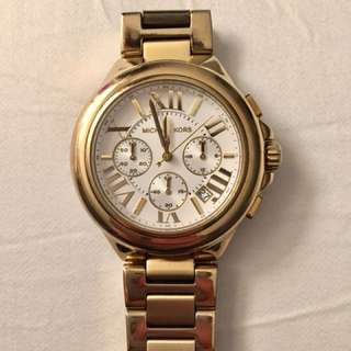Michael Kors gold oversize bradshaw watch