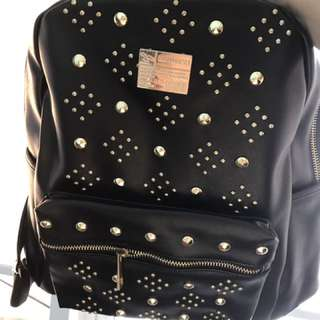 Studs black haversack bag