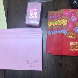 婚後物資♥️三十個利是封,少量粉紅色信封,粉紅色細利是封