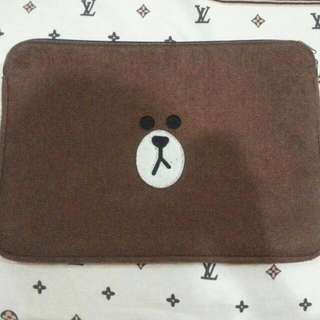 LINE FRIENDS Brown Laptop Bag