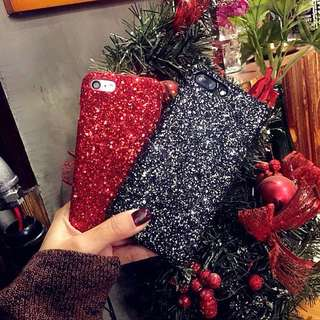 Iphone 7 plus Black glitter hard case