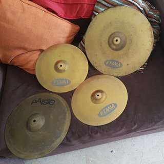 Paiste and Tama made in germany cymbals