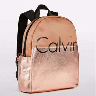 Calvin Klein Round Top Backpack in Rose Gold