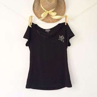 Zoe In The Zone - Slinky Baby Tee With Embellishments.