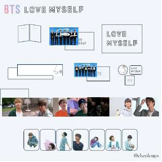 BTS - LOVE MYSELF FANMADE GOODS by @cheolcups