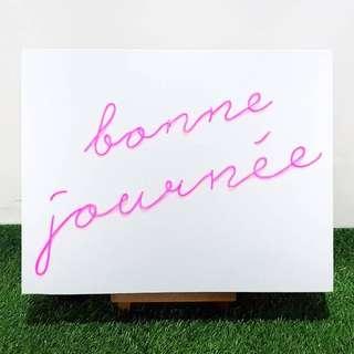 Neon Light Sign board customisation