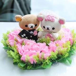 減價:鬆馳熊結婚公仔兩隻(一對)
