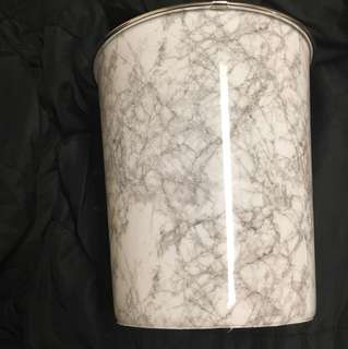 Marble Print Trash Can