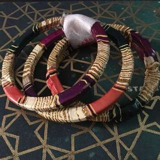 Auth Wood Bangles from India