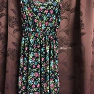 Floral long dress Rm30 include postage