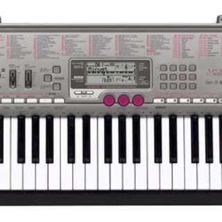 Casio Piano Style Key Lighted Keyboard Includes Stand, and Adapter - Silver