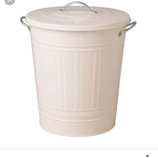 Price Markdown! Ikea Dustbin With Lid - White