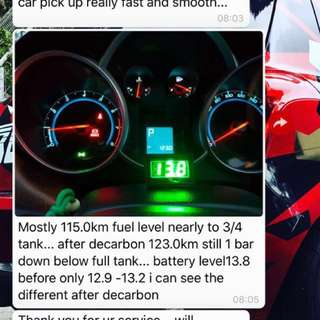 Customer feedback on fuel consumption improvement Decarbon