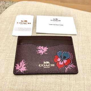 RESERVED Coach Card Holder New Authentic BNWT