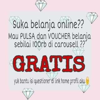 Free voucher!! 💚💛💜 Bantu isi yuk! 💛💜💚