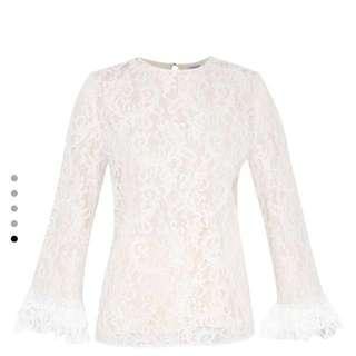 ZALIA flare sleeve lace top