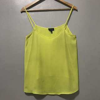 TOPSHOP Camisole Yellow