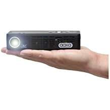 AAXA P4 P4X Pico Projector, 125 Lumens with 90 Minute Battery Life, Pocket Size, 15,000 Hour LED Life, Mini-HDMI, Mini-VGA, Media Player, DLP Projector