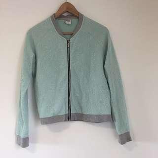Aqua bomber jacket size medium