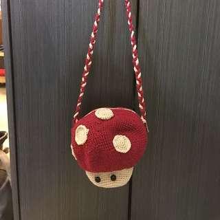 手作兒童蘑菇手袋