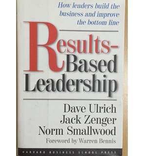 Self Improvement Book- Results Based Leadership