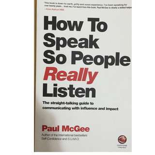Self Improvement Book- How to Speak so People Really Listen