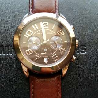 Michael Kors Rose Gold/Brown Watch